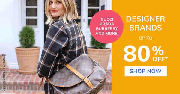 Loading Designer Brands up to 80% off. Shop Now.