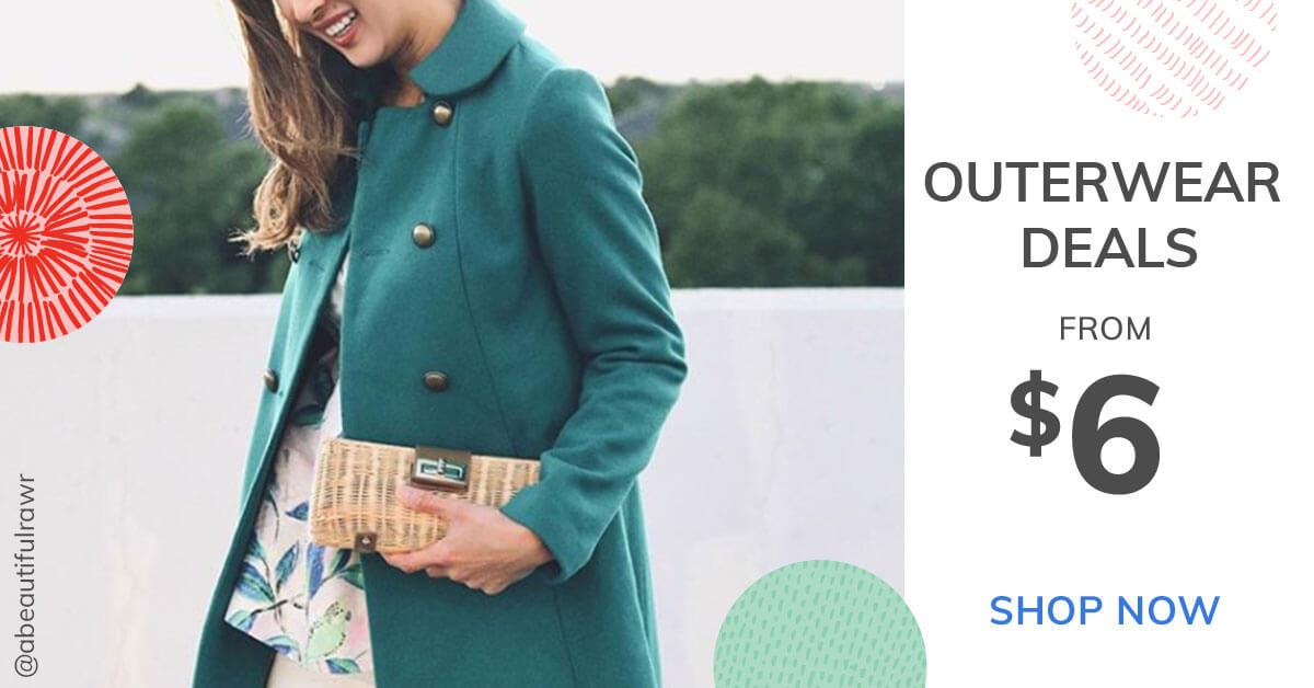 Outerwear deals from $6